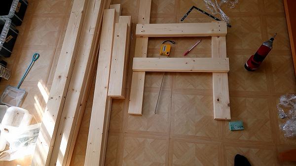 室内飼育用メダカの棚DIYで作ってみた